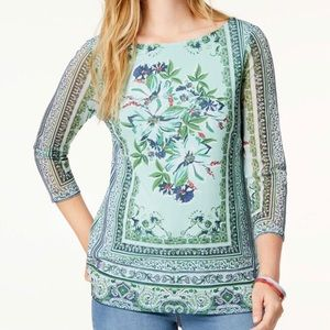 Charter Club Petite Boat-Neck Top